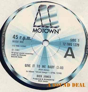"RICK JAMES Give It To Me Baby! 12"" UK Motown ASD"