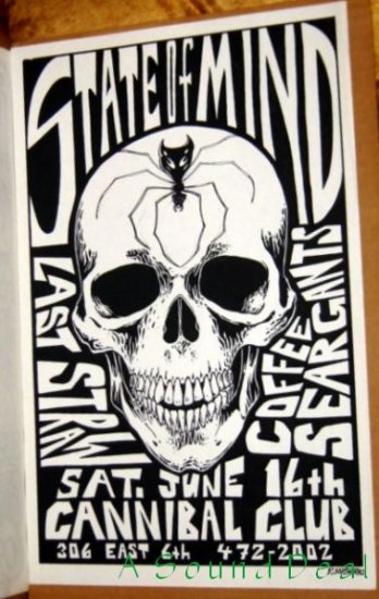 STATE OF MIND Coffee Seargants LAST STRAW Skull POSTER