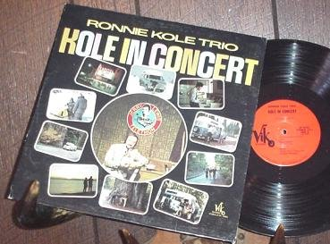 RONNIE KOLE TRIO CONCERT PRIVATE LOUNGE JAZZ LP SIGNED