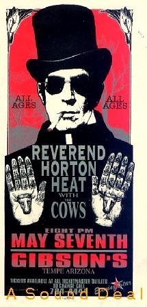 COWS REVEREND HORTON HEAT '96 Gig HANDBILL Poster