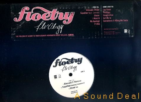 FLOETRY FLO'OLOGY 2 LP NEO SOUL PROMO ONLY DOUBLE WAX!!
