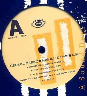 "GEORGE DARKO HTF '84 UK 12"" Highlife Time Ghana Guitar"