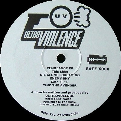 "ULTRAVIOLENCE '92 12"" VENGEANCE EP TECHNO INDUSTRIAL"