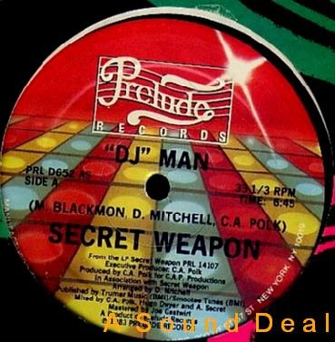 "SECRET WEAPON DJ Man boogie OG'83 PRELUDE 12"" ASD"