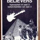 TRUE BELIEVERS Club Cairo Austin Texas '88 POSTER JAGMO