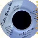 """JANICE LOWE In Vain 7"""" 45 Scarce Texas Modern Soul HEAR"""