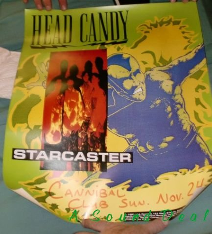 HEAD CANDY Starcaster'91 power pop Poster silver surfer