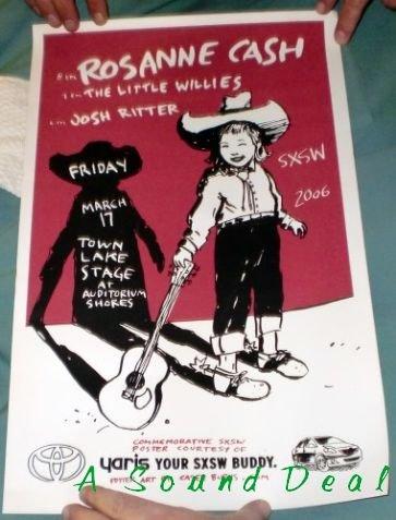 ROSANNE CASH Little Willies SXSW '06 TX Concert Poster