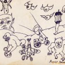 DANIEL JOHNSTON Outsider Art 11 Characters CAPTIAN V