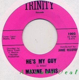 "MAXINE DAVIS He's My Guy 7"" 45 northern soul TRINITY"