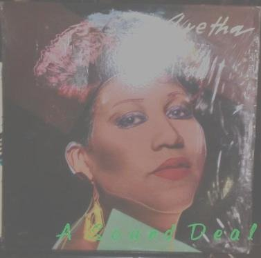 ARETHA FRANKLIN Aretha LP sticker WARHOL art SHRINK