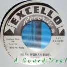 "WHISPERING SMITH Mean Woman Blues 7"" 45 promo dj harp"