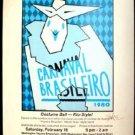 CARNAVAL Brasilero 1980 Poster Guy Juke RARE Signed Texas Mardis Gras Houston