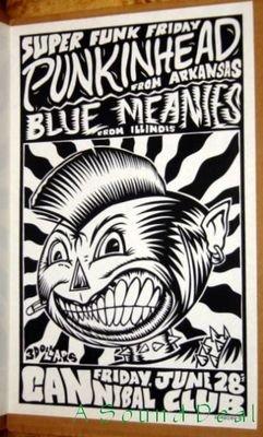 PUNKINHEAD Blue Meanies POSTER Cannibal Club Texas funk ska punk Bob Schneider