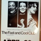 The ROCHES Fast & Cool Club POSTER rare Mint Texas Jagmo fem folk harmony love