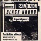 BLACK UHURU scarce original 1982 Handbill Austin Opry House Texas roots reggae