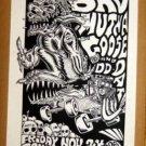 BAD MUTHA GOOSE Kozik 1989 gig POSTER Austin Texas Cannibal Club RARE punk funk
