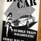 BIG CAR'92 Jelly Club POSTER Rare FASTBALL Austin Texas Balloonatic Rumble Train