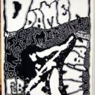 DAS DAMEN Texas '90 Cannibal Club gig POSTER Jason Austin SST punk concert