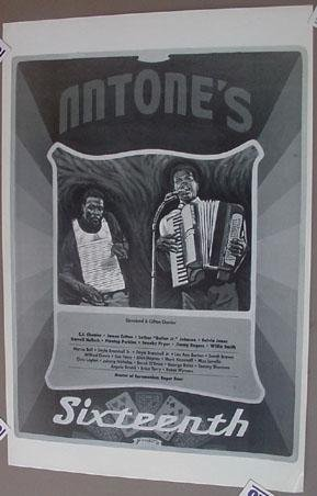 CLIFTON CHENIER Poster Antone's 16th Zydeco Blues Danny Garrett Austin Texas
