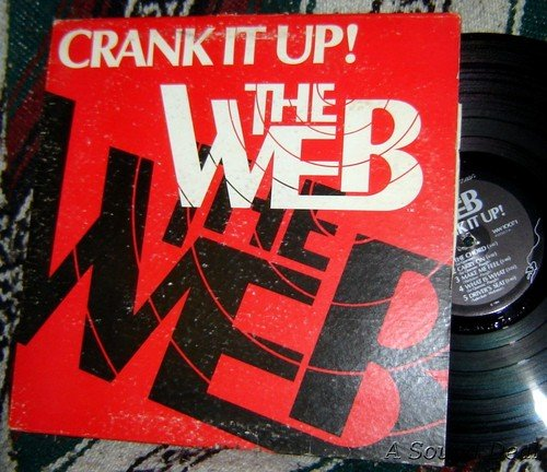 Web Crank It UP LP RARE Autographed + 45 + insert AOR private HARD