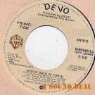 "DEVO Jerkin' Back 'n' Forth 7"" 45 promo only mono DJ near mint mutant punk love"