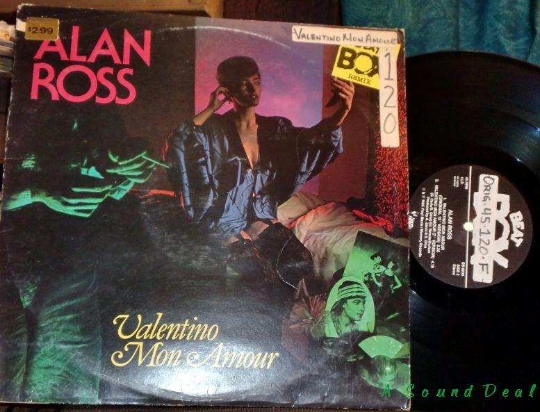 "ALAN ROSS Valentino Mon Amour 12"" RARE Swedish Remix HEAR Italo Hi NRG"