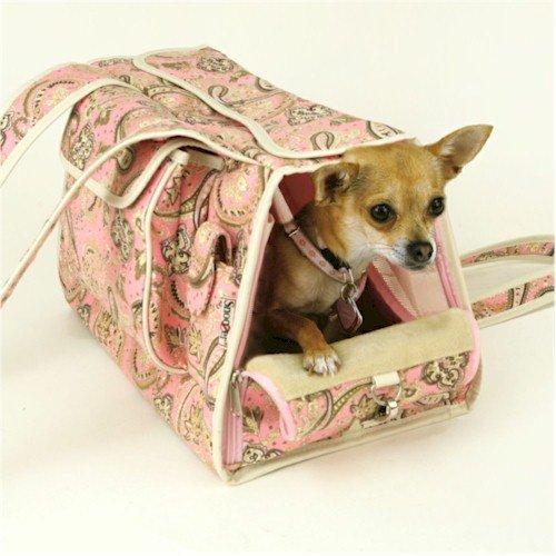 Snoozer City Pet Tote - Pink Paisley, SN-86614