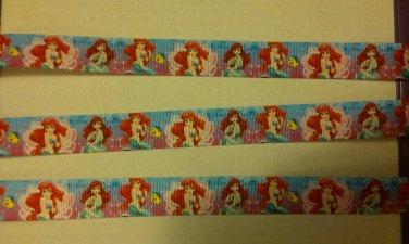 ariel princess grosgrain ribbon 7/8 5yrds