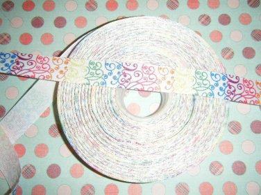 pastel swirls 5 yrds ribbon~FREE SHIPPING~