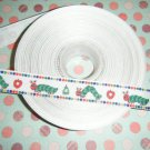 hungry catepillar themed ribbon 5 yards~FREE SHIPPING