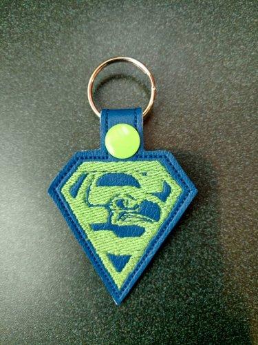 Super seahawks key fob design