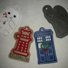 Dr who inspired Christmas ornament set