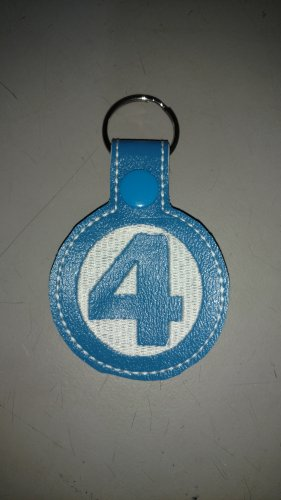 Vintage comic book style fantastic four key fob