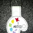 I arted , art pallet key fob