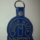 Custom keychain NW MOPAR MAFIA blue and grey