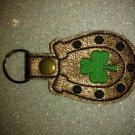 Clover horseshoe good luck keychain