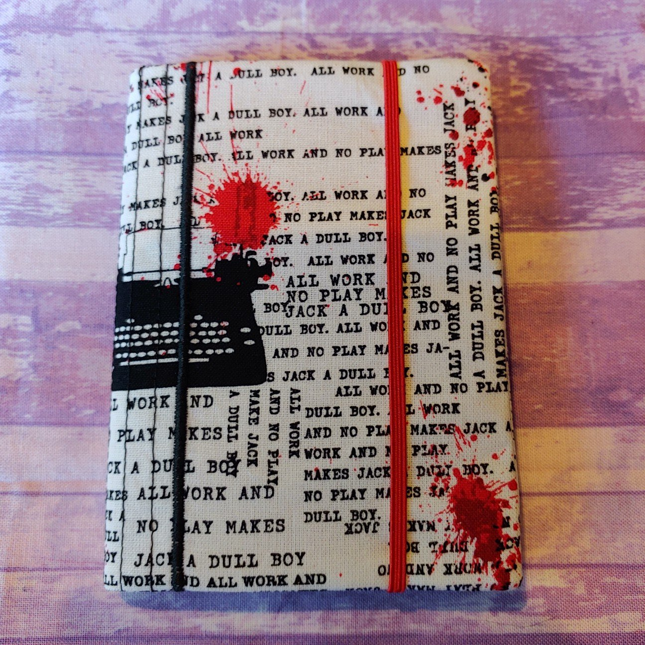 Shining Typewriter words blood fabric MINI composition book cover