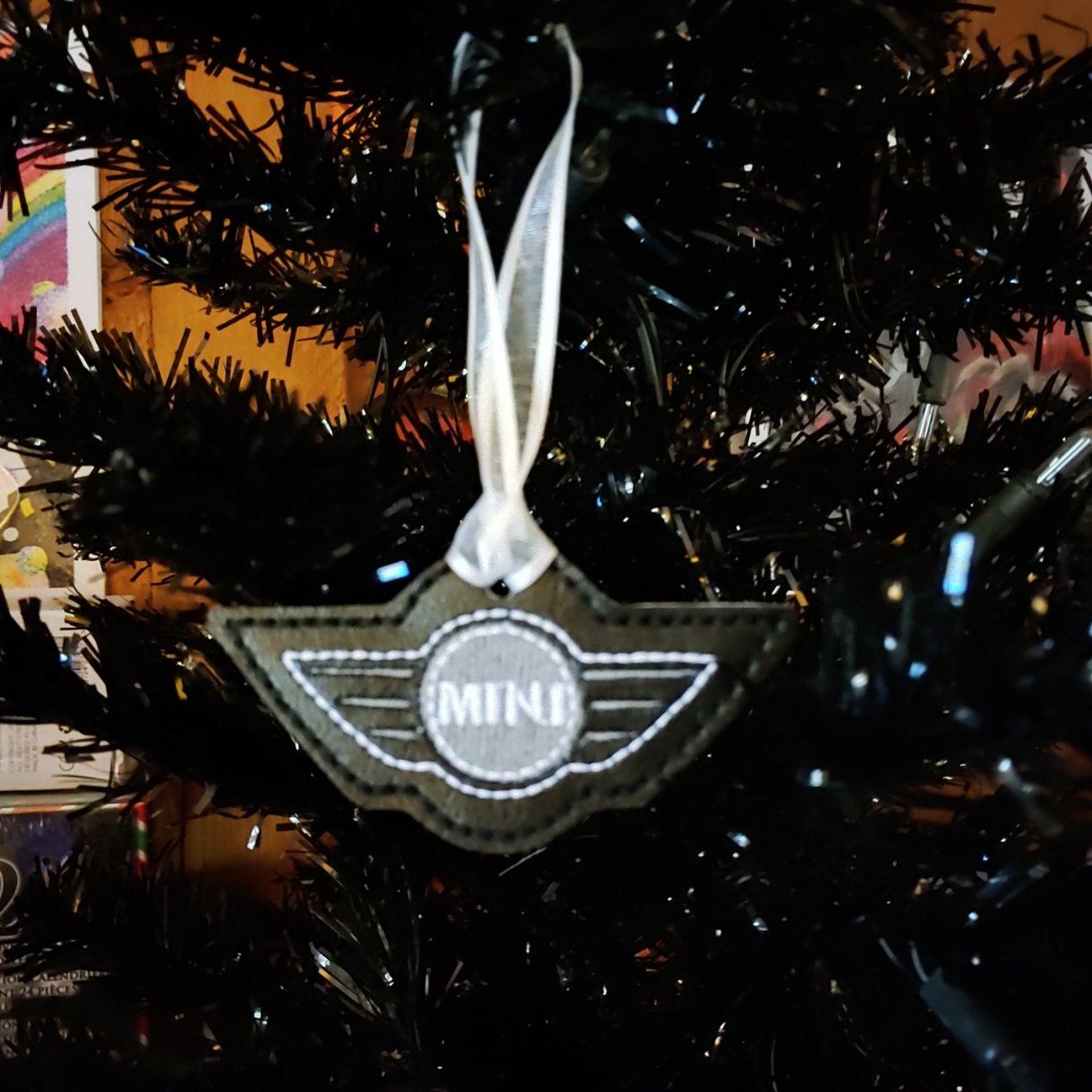 Mini wings Ornament  Black/White Custom machine embroidered