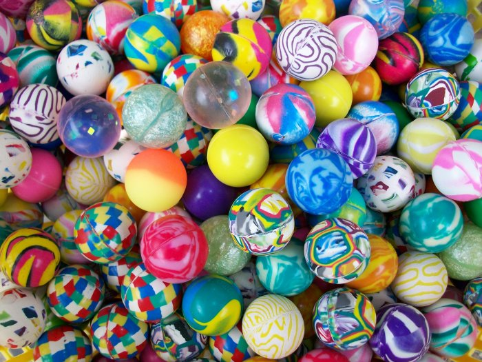 "100 Party Favors Super Hi Bounce High Bouncy 27mm Ball 1"" Bouncing Superballs"