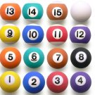 "16 Pool Billiard 1"" Super Balls Bouncing bouncy Superballs New"