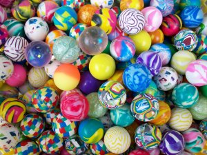 250 Fancy Quality Vending Super Bounce Bouncy Balls 1""