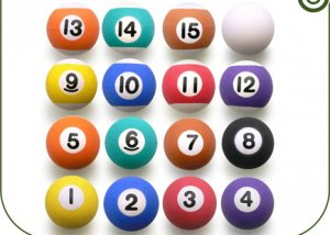 16 Super Balls Bouncing Superballs Bouncy Vending Party Favor Pool Billiard New