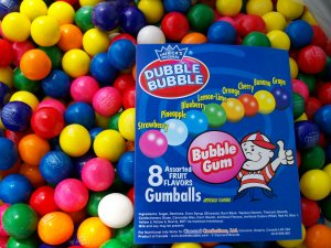 "850 Assorted 1"" Gum Balls Bulk Candy Gumballs Fresh Double Bubble Vending New"