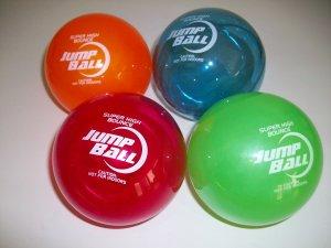 "4 Sky Jump 4"" Super Ball Comet Helium Bouncy Superballs New Toy 75 Feet"