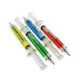 12 Syringe Pens Doctor Bulk  Nurse Unique Gifts Black Ink Medical Dental Wholesale