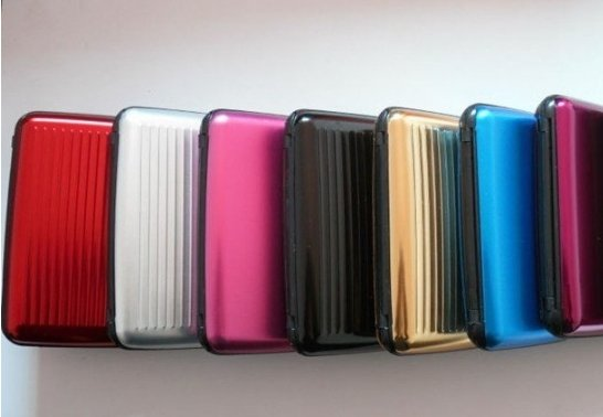 20 Aluminum Wallets Bulk Wholesale ID Credit Card Wallet + RFID Blocking Case