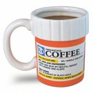 Prescription Bottle Shaped 12oz Ceramic Coffee Mug Gift Nurses Doctor Nurse