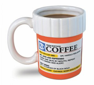 Prescription Bottle Shaped 12oz Ceramic Coffee Mug Gift Nurses Doctor Nurse