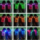 3-Mode LED Light UP Fiber Glow Flash ShoeLace Shoestring 19 Color to Choose